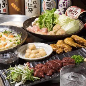 とりいちず 小岩北口店の鶏料理もお酒もしっかり楽しめるコース